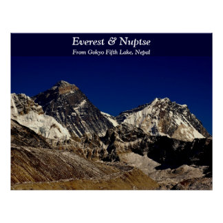 Everest and Nuptse Poster