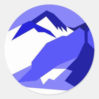 Everest - blue classic round sticker