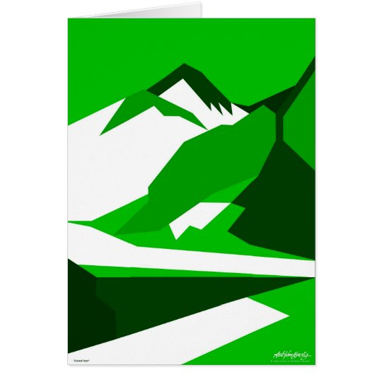 Everest Green - Art Gallery Selection Card