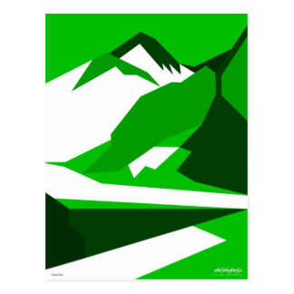 Everest Green - Art Gallery Selection Postcard