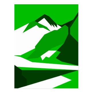 Everest - green postcard