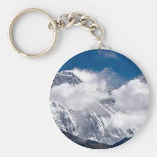 Everest Peak Basic Round Button Keychain