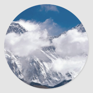Everest Peak Classic Round Sticker