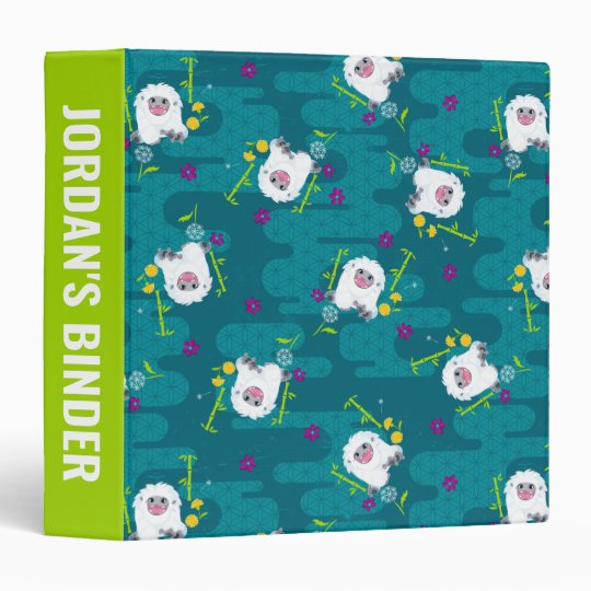 Everest Teal Dandelion Pattern 3 Ring Binder