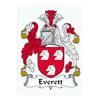 Everett Family Crest 5x7 Paper Invitation Card