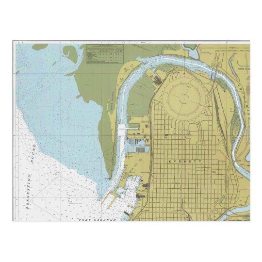 Everett Harbor Washington Puget Sound postcard
