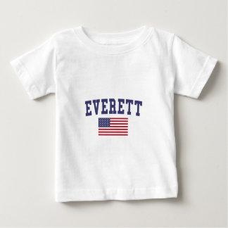 Everett MA US Flag Baby T-Shirt