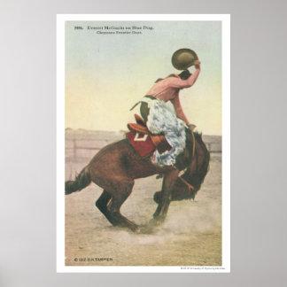Everett McGucin on Blue Dog Cheyenne Frontier Days Poster