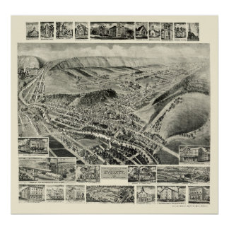 Everett, PA Panoramic Map - 1905 Posters