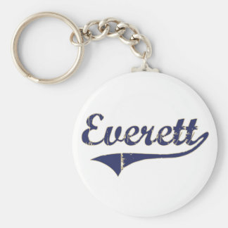 Everett Washington Classic Design Basic Round Button Keychain