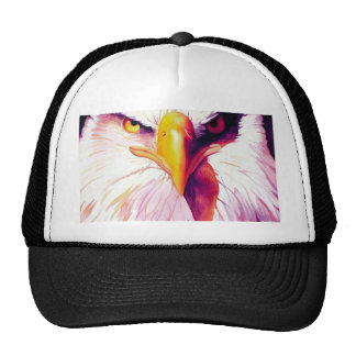 """""""Everette"""" Bald Eagle Watercolor Mesh Hat"""