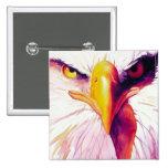"""Everette"" Bald Eagle Watercolor Pinback Button"