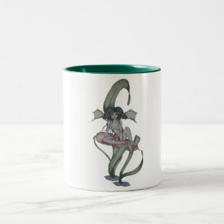 Everglades Fairy Mug with Frogs and Cattails