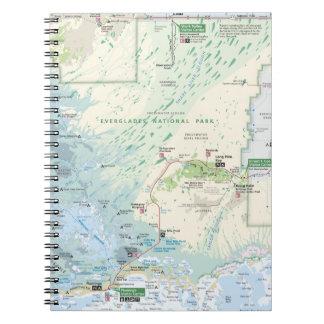 Everglades map notebook
