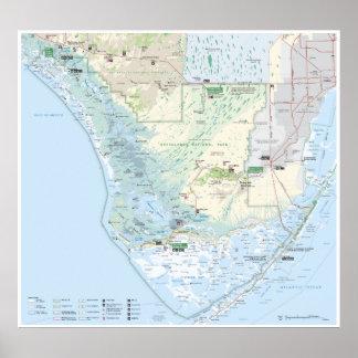 Everglades map poster