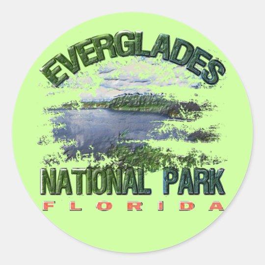 Everglades National Park, Florida Classic Round Sticker