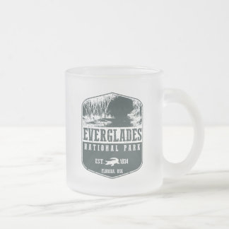 Everglades National Park Frosted Glass Coffee Mug