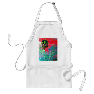 Everglades Palm Tree Sunset Adult Apron
