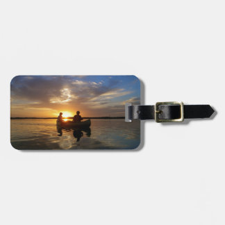 Everglades Sunset Canoe Trip Luggage Tag