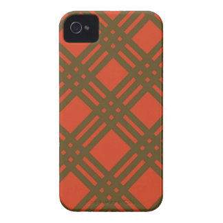 Evergreen and Red Lattice Case-Mate iPhone 4 Case
