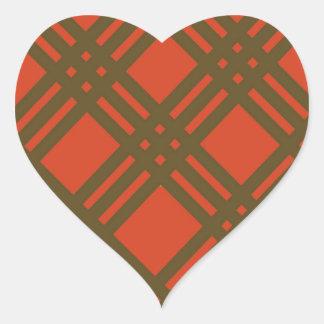 Evergreen and Red Lattice Heart Sticker