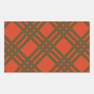 Evergreen and Red Lattice Rectangular Sticker