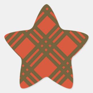 Evergreen and Red Lattice Star Sticker