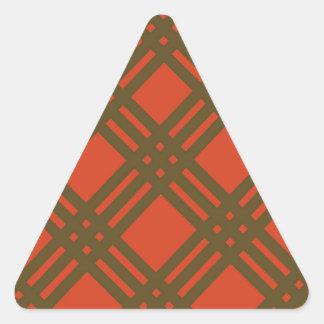 Evergreen and Red Lattice Triangle Sticker