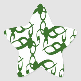Evergreen and White Lace Star Sticker