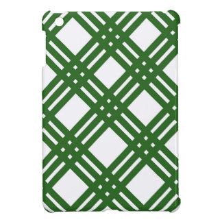 Evergreen and White Lattice Cover For The iPad Mini