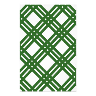 Evergreen and White Lattice Stationery