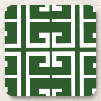 Evergreen and White Tile Coaster