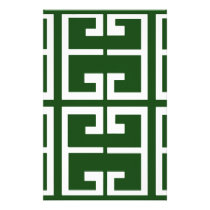 Evergreen and White Tile Stationery