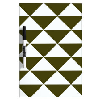 Evergreen and White Triangles Dry Erase Board