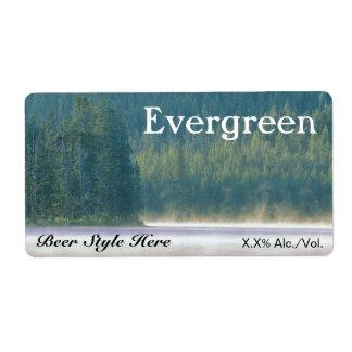 Evergreen Beer Label