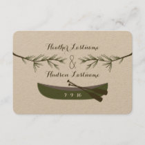 Evergreen Branches   Canoe Wedding Save The Date