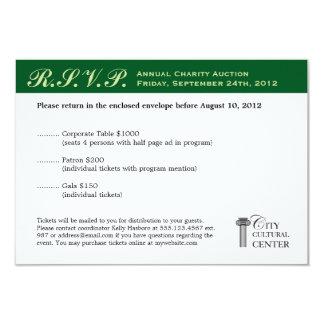 Evergreen business gala event corporate RSVP Card