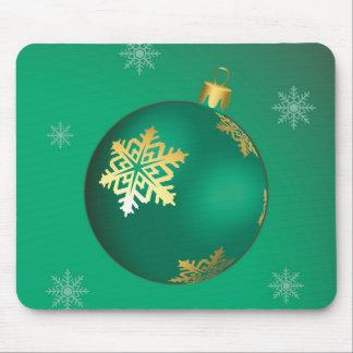 Evergreen Christmas ball Mouse Pads