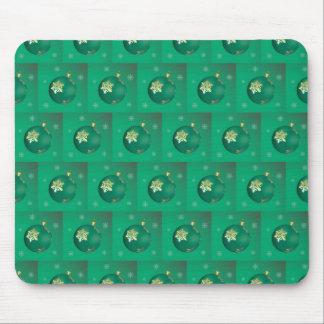 Evergreen Christmas balls Mouse Pad