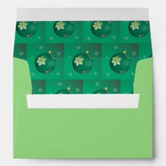 Evergreen Christmas baubles Envelope