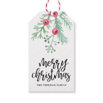 Evergreen Christmas Holiday Gift Tag