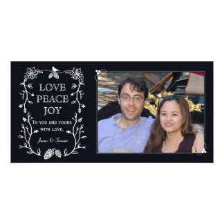 Evergreen Christmas Holiday Photo Card