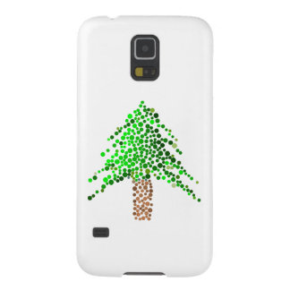 Evergreen Christmas Tree Made of Dots Galaxy S5 Case