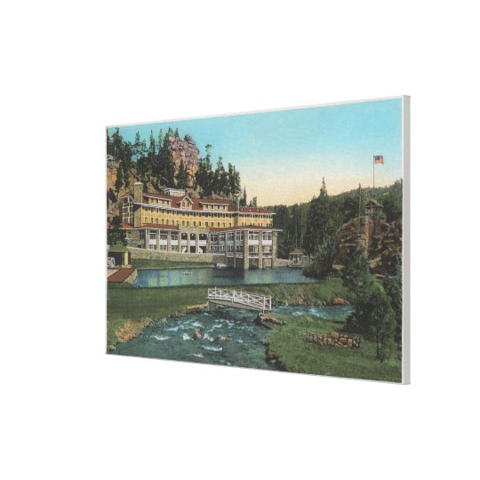 Evergreen, CO - Troutdale Hotel, Bear Creek Canvas Print