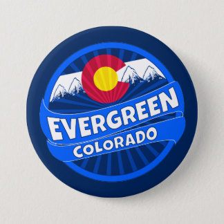 Evergreen Colorado mountain burst button