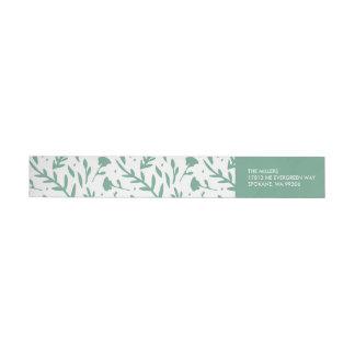 Evergreen Corners Wrap Around Label