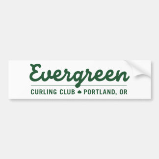 Evergreen Curling Club Ligature Bumper Sticker