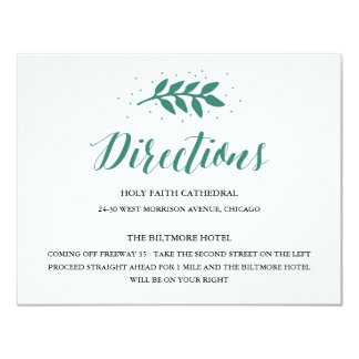 Evergreen - Directions Card