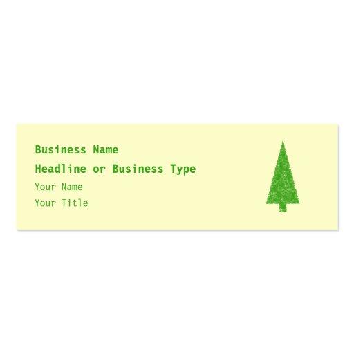 Evergreen Fir Tree. Green Yellow. Christmas. Business Card