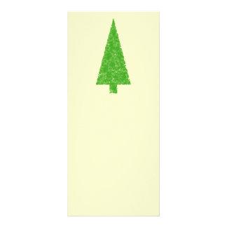 Evergreen Fir Tree Green Yellow Christmas Rack Card Design